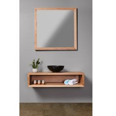 This is our classic timber vanity. It is very simple, suits most bathrooms and does not break the bank!! The box design is clean, and you can break up the colouring by styling with what suits underneath for suitable shelving.
