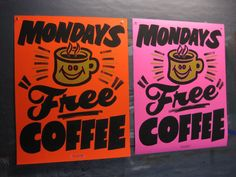 Free Coffee by Dad's Paper Signs