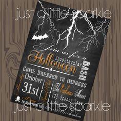 Halloween invite, DIY, Spooky Halloween invitation, Halloween invites, Spooky invitations