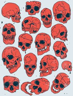 Vintage Halloween skulls for neotraditional tattoos halloween skull Vintage Halloween Skull Reference, Drawing Reference, Doodle Art, Skull Illustration, Halloween Illustration, Poses References, Neo Traditional Tattoo, Traditional Japanese, Graphics