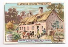 Bretagne  France - - Habitation rurale  Europe - Chromo Liebig - Trade Card