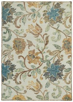 Burleigh Rug in Beige Multi has a Scottish quilt flair and looks great in any room! #CapelRugs