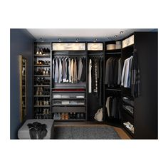 If you're dreaming of a luxury walk-in closet in your home, you're definitely not alone. Visit our gallery of luxurious walk-in closet designs. Closet Walk-in, Ikea Closet, Master Closet, Black Closet, Closet Space, Walking Closet, Wardrobe Systems, Bedroom Wardrobe, Dream Closets