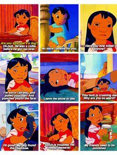 Lilo is a mood Disney Pixar, Disney Facts, Disney And Dreamworks, Disney Animation, Disney Magic, Funny Disney Jokes, Disney Memes, Disney Quotes, Disney Cartoons