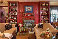 Christmas country living room