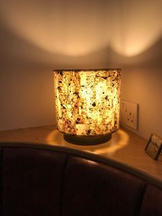 Stone Veneer Lampshade Burning Forest With A transulcent Lining Real Stone Veneer, Veneer Texture, Clear Resin, Boarders, Patterns In Nature, Lampshades, 10 Days, Bespoke, Highlights