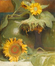 Sunflowers are one of my favorites flowers. Am in love with this Charles Weed oil painting.