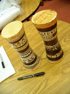 Djembe craft for day 3 erin shakespear: The Friday Five: Random Fun