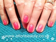 Shellac Lobster Roll layered with Grapefruit Sparkle #shellac