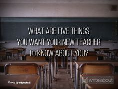 Writing Ideas for the First Week of School – John Spencer