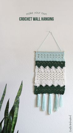 Crochet DIY Wall Hanging Pattern