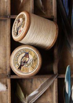 Antique cotton reels - fab graphics!