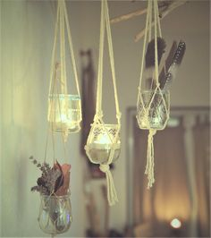 Con comme la Lune: Mes macramés faits main Fabriquer ses propres macramés, suspensions.  #déco #home #decoration #maison #diy