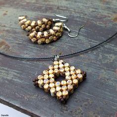 http://gianelle.beadforum.cz Rulla beads set - square donut and earrings