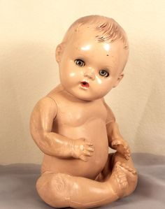 Sun Rubber Baby Doll Vintage 1930s Patent as Is Sleep Eyes | eBay