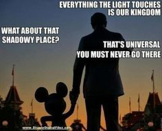 Magic Kingdom- Disney humor! Funny.  Sure wish they'd play nice with Universal.  Making the mouse look bad.