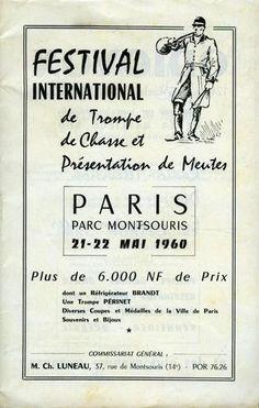 Festival international de trompe de chasse et présentation de meutes. 1960