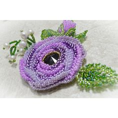 Purple Jewelry Statement Beaded Flower Rose Brooch Handmade Rose... ($62) ❤ liked on Polyvore featuring jewelry, brooches, swarovski crystal brooch, flower brooch, rose flower jewelry, pin jewelry and beaded jewelry