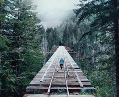 Follow @AllAbandoned for the most amazing abandoned locations! @AllAbandoned  The abandoned Vance Creek Bridge in Washington. Sitting 347 feet above Vance Creek the Vance Creek Bridge is the second highest railway arch bridge ever built in the United States. At 422 feet long this bridge was originally built in 1929 along with the High Steel Bridge to help the logging industry in Mason County. Eventually the bridge and tracks were abandoned  Simpson logging company in the 1950s but the bridge…