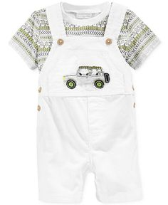 First Impressions Baby Boys' Safari T-Shirt & Shortall Set, Only at… Cute Outfits For Kids, Baby Boy Outfits, Toddler Boys, Baby Kids, Baby Baby, Baby Overalls, Summer Boy, Kids Fashion Boy, Just In Case