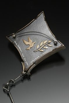 Andy Cooperman, the back of the brooch.  The best artists finish the back of the work as nicely as the front.
