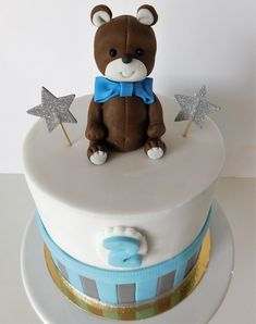 Gâteau petit ourson  Teddy bear cake Birthday Cake, Cakes, Desserts, Food, Design, Birthday Cakes, Meal, Deserts, Essen