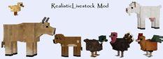 RealisticLivestock Mod, novos modelos para animais de fazenda de baunilha, novos AIs, novas raças e novos animais (iaque, peru, bisão, cabra, etc) - WIP Mods - Minecraft Mods - Mapeamento e Modding - Minecraft Forum - Minecraft Forum