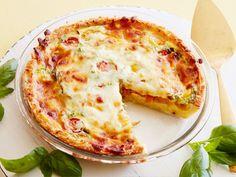 Hash Brown, Tomato and Mozzarella Quiche