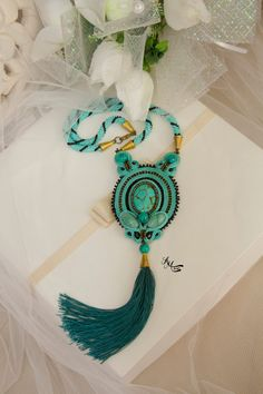 unique handmade gift, unique jewelry, handmade jewelry, mothers gift, mothers day gift, girlfriends gift, turquoise necklace, tassel necklace, mom gift