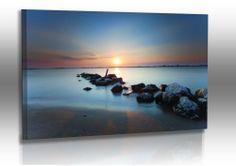 Premium Acrylglasbild Italien - Sonnenuntergang Punta Sabbioni Landschaft Wasser