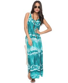 Slit Tie-Dye Swim Cover-Up | FOREVER21    such a fun pattern and color!!