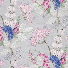 kimono blossom - heather fabric | Designers Guild