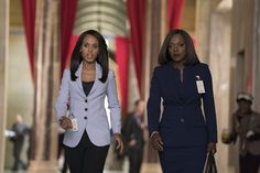 "Olivia Pope (Kerry Washington) and Annalise Keating (Viola Davis) in HTGAWM 4x13 ""Lahey v. Commonwealth of Pennsylvania"""