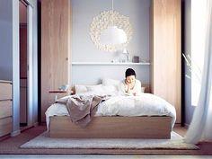 Bedroom storage Solutions - Small Bedrooms Storage Solutions and Decoration Inspiration. Rooms Ideas, Room Ideas Bedroom, Bedroom Colors, Home Bedroom, Bedroom Decor, Calm Bedroom, Peaceful Bedroom, Light Bedroom, Dream Bedroom