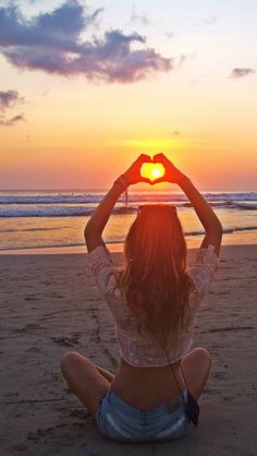 """In """"love"""" with sunsets - Tap on the link to see the newly released collections for amazing beach bikinis! :D"""