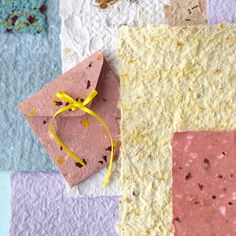 Beautiful to behold and delightful to touch, decorative paper is fun and easy to make. Just blend recycled paper products and supplies you have around the house.