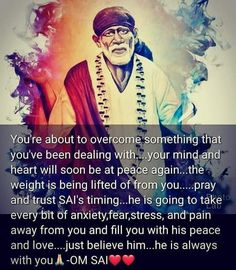 Gods Love Quotes, Strong Quotes, Faith Quotes, Positive Quotes, Life Quotes, Positive Things, Sai Baba Hd Wallpaper, Sai Baba Wallpapers, Sai Baba Pictures