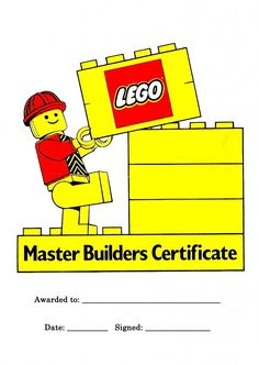 lego certificate how to cook that