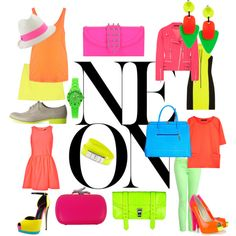 neon, created by ashlips33 on Polyvore