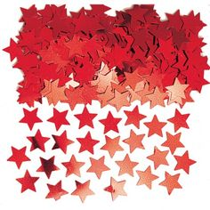 Treat your party guests to a shower of falling Mini Red Star Confetti! Mini Red Star Confetti comes in shades of red to give party decor a one-of-a-kind look. Sweet Party, Red Party, Party Fun, Party Time, Table Confetti, Wedding Confetti, Halloween Costume Shop, Halloween Costumes For Kids, Bunting