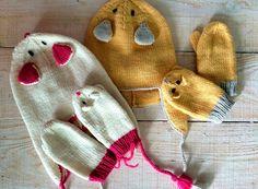 For the little ones Hat & Mittens  Extra Fine Merino -Manos del Uruguay