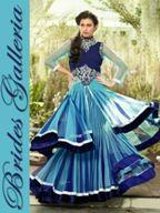 Blue Net Long Dress