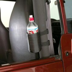 Looking for an inexpensive way to add more places to carry your drinks? The Rampage Roll Bar Drink Holder comes in a set of 2 and fits any model Jeep 2 or 4 Jeep Wrangler Interior, 2008 Jeep Wrangler, Jeep Sport, Jeep Scrambler, Drink Holder, Cup Holders, Rugged Ridge, Jeep Mods, Rolling Bar
