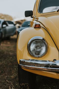 photo of yellow Volkswagen Beetle Retro Vintage, Cars Vintage, Photo Vintage, Vintage Cartoon, Vintage Yellow, Retro Cars, Vintage Sports Cars, Wallpaper Carros, Posters Vintage