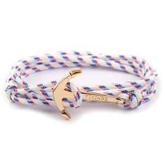Bracelets Vikings mapGolden Anchor Hand-Rope Lovers Handmade Nylon Rope Bracelet Hook Pulseras Can Chioce Colors Drop Shipping - 4