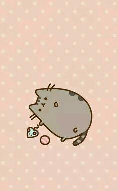Cat Wallpaper, Kawaii Wallpaper, Iphone Wallpaper, Pusheen Stickers, Pusheen Love, Chat Kawaii, Cutest Cats Ever, Kawaii Drawings, Cat Drawing