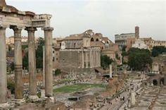 Day of arrival. Rome, Italy. Roman Forum