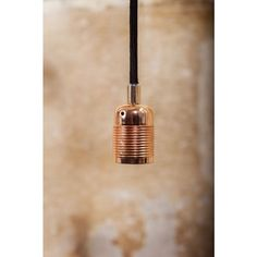 Gorgeous copper light fitting ready wired with long fabric covered cord in black. By Frama of Denmark. Takes bulb (not included). Copper Pendant Lights, Copper Lighting, Pendant Lighting, Wabi Sabi, Bronze, Pendant Light Fitting, Keep The Lights On, Design Bestseller, Light Fittings