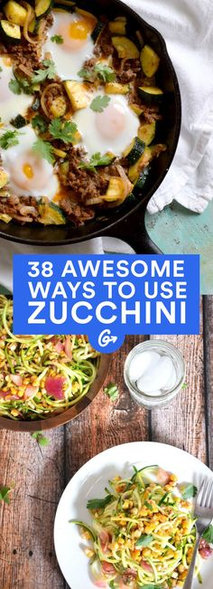 This summer squash can do so much more than replace noodles (though we included some amazing... #healthy #zucchini #recipes http://greatist.com/eat/healthy-zucchini-recipes