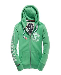 Superdry Track And Field Zip Hoody Kelly